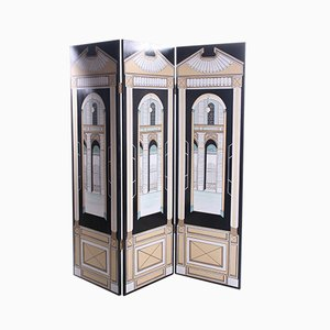 Italian Handmade Room Divider or Folding Screen, 1970s