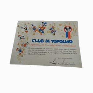 Italian Walt Disney Diplomas, 1964, Set of 7