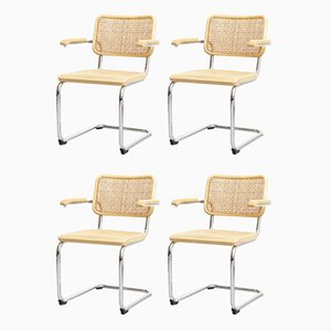 B64 Cesca Armchairs by Marcel Breuer for Thonet, 1970s, Set of 4
