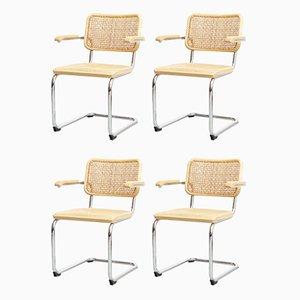 B64 Cesca Armlehnstühle von Marcel Breuer für Thonet, 1970er, 4er Set