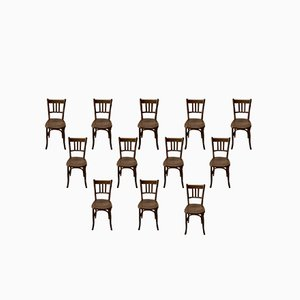 Vintage Bistro Chairs, Set of 18