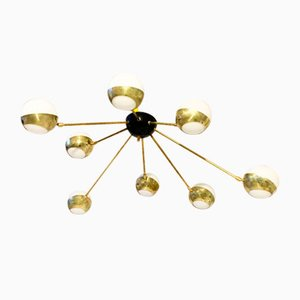 Large Vintage Gold Ceiling Lamp, 1980s
