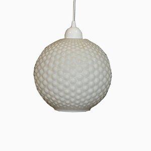 Vintage Opal Globe Ceiling Lamp