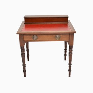 Antique Victorian Mahogany Leather Top Desk or Writing Table