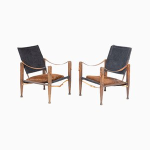 Mid-Century Danish Armchairs in the Style of Kaare Klint, Set of 2