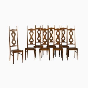 Arts & Crafts Oak Dining Chairs by Charles Francis Annesley Voysey for Liberty, 1930s, Set of 8