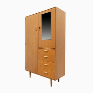 Mid-Century Wardrobe & Bedside Cabinet by John & Sylvia Reid for Stag, Set of 2