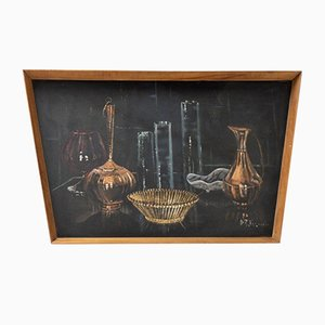 Framed Painting on Board by D R James, 1960s