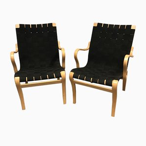 Mina Lounge Chairs by Bruno Mathsson for Firma Karl Mathsson, 1970s, Set of 2