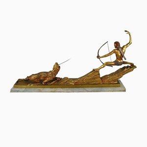 Art Deco Bronze Archery Hunter, 1930s