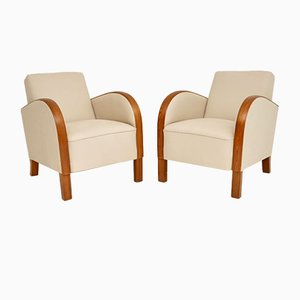 Swedish Art Deco Armchairs, 1930s, Set of 2