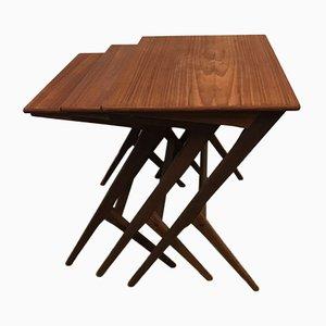 Tables Gigognes Vintage par Bengt Ruda, Danemark, 1960s, Set de 3