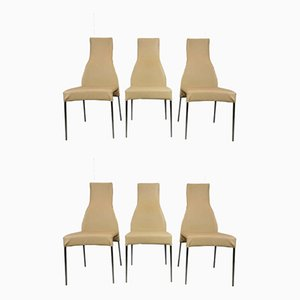 High Back Dining Chairs from Cattelan Italia, 2000s, Set of 6