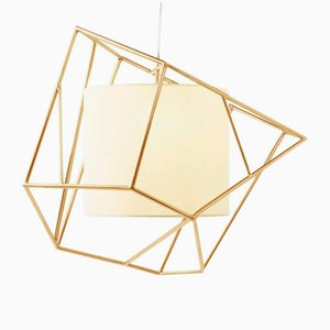 Star I Brass Suspension Lamp by Utu Soulful Lighting