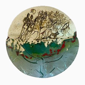 Bemalte Glasvase von Paolo Cupparoni für Curvet, 1970er