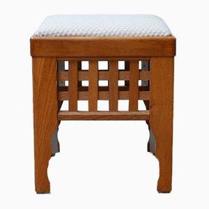 Mid-Century Scandinavian Upholstered Stools, Set of 4