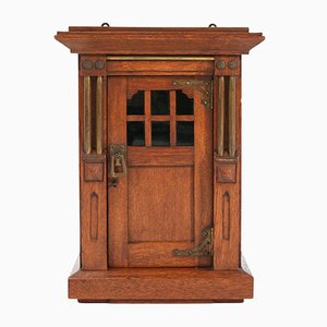 Arts & Crafts Art Nouveau Oak Miniature Wall Cabinet by N. v/d Pol, 1917