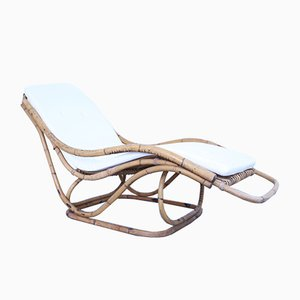 Mid-Century Chaise Lounge in Bamboo