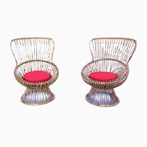 Mid-Century Margherita Lounge Chairs by Franco Albini, Set of 2