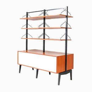 Mid-Century Modern Teak Royal Wall Unit Room Divider by Poul Cadovius for Cado, 1960s, Set of 17