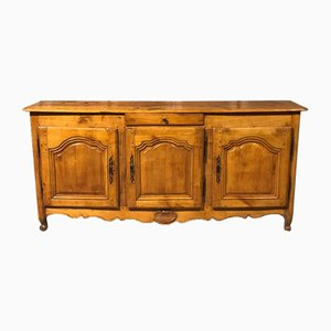 French Antique Cherry Wood Sideboard