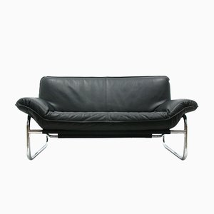 Leather and Chrome Sofa, 1980s