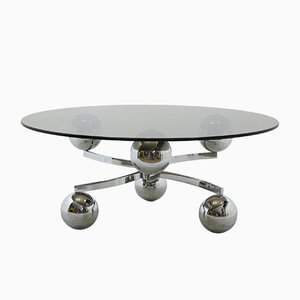 Sputnik Chromed Coffee Table, 1970s