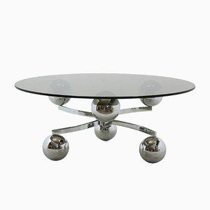 Tavolino da caffè Sputnik cromato, anni '70