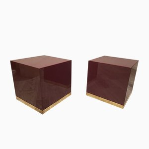 French Nesting Tables by Jean Claude Mahey, 1970s, Set of 2