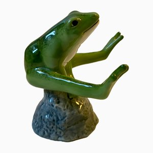 Green Good Luck Frog by Allan Therkelsen for Royal Copenhagen