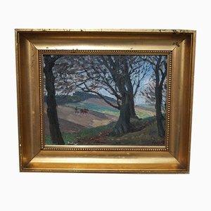 Impressionistisches Ölgemälde von Hjamar Asp, 1909