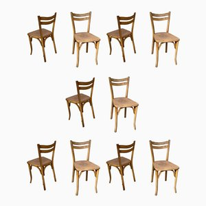 Mid-Century Speckled Seat Bistro Chairs from Baumann, Set of 10