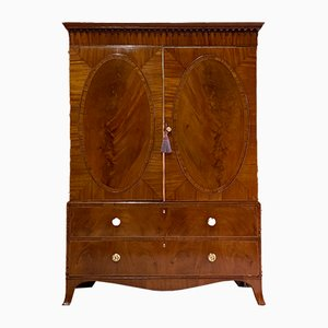 George IV Mahogany Wardrobe Linen Press, 1825