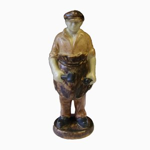 Mid-Century Ceramic the Blacksmith Figure by Michael Andersen & Son for Bornholm