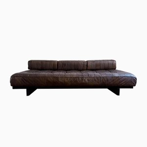 Chocolate Brown Leather DS-80 Daybed from de Sede, 1970s