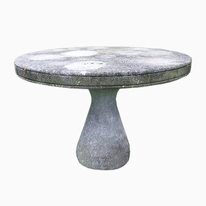 Mid-Century Concrete Garden Table in the Style of Mangiarotti & Up & Up