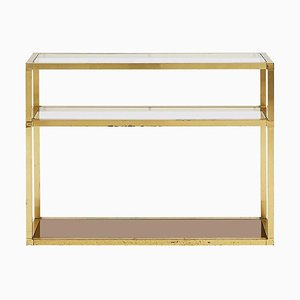 Mid-Century Brass 3-Tier Console Table, 1970s