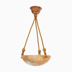 Art Deco Alabaster Pendant Lamp, 1920s
