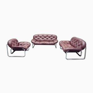 Juego de salón vintage de Johann Bertil Häggström para Ikea. Juego de 3