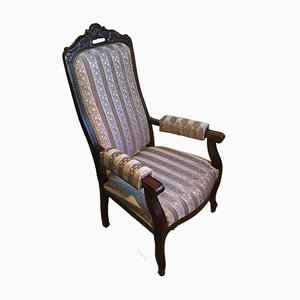 Armchair with Adjustable Backrest, 1940s