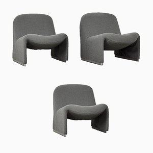 Vintage Alky Lounge Chairs by Giancarlo Piretti for Castelli / Anonima Castelli, 1970s, Set of 3
