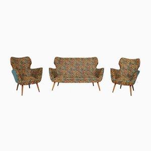 Italienisches Sofa & Sessel, 1950er, Set of 3