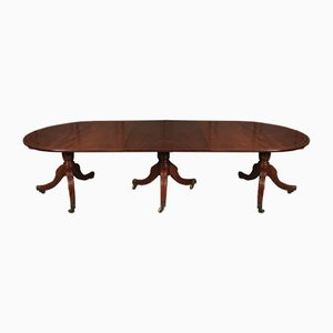 Regency Solid Mahogany Triple Pillar Dining Table