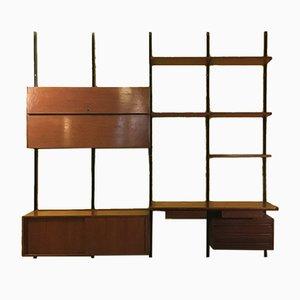 Mid-Century Italian Modern Wall E22 Bookcase by Osvaldo Borsani for Tecno, 1960s