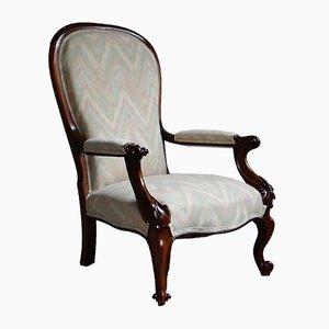 Viktorianischer Sessel aus Nussholz