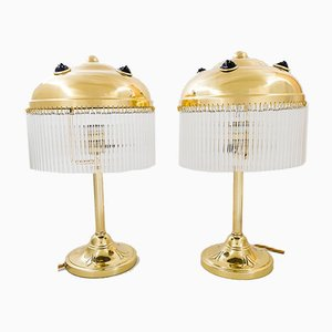 Art Deco Table Lamps, 1920s, Set of 2