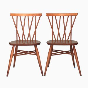 Candlestick Dining Chairs by Lucian Ercolani for Ercol, 1960s, Set of 2