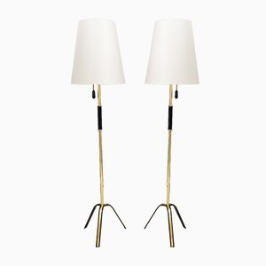Floor Lamps by Rupert Nikoll, Vienna, 1960s, Set of 2