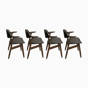 Cowhorn Dining Chairs from Tijsseling Nijkerk, 1950s, Set of 4