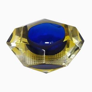 Blue Ashtray or Vide Poche by Flavio Poli for Seguso, 1960s